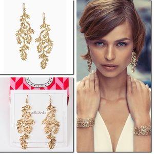 Stella & Dot Grace Chandeliers Gold Earrings